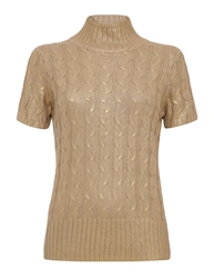 Aftershock Laksha High Neck Jumper Gold