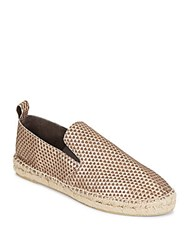 Vince Robin Metallic Leather Espadrille Flats Bronze