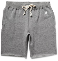 Todd Snyder Champion Cut Off Melange Loopback Cotton Jersey Shorts Gray