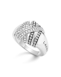 Lagos Sterling Silver Embrace Medium Diamond Wrap Ring