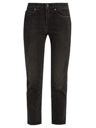 Acne Studios Row Crease Mid Rise Cropped Jeans Black