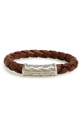 Porsche Design Fragrance Porsche Design 'Nexus' Woven Leather Bracelet Brown