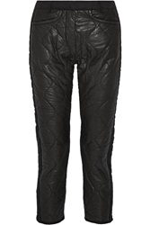 Isabel Marant Quilted Leather Straight Leg Pants Black