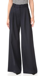 Milly Wide Leg Trousers Navy