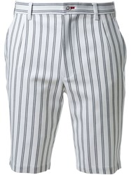 Guild Prime Striped Knee Length Shorts White