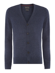 Howick Arlington 100 Lambswool Cardigan Denim Marl