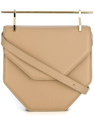 M2malletier 'Lipstick' Cross Body Bag Nude And Neutrals