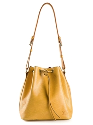 Louis Vuitton Vintage 'Noe' Bucket Shoulder Bag Yellow And Orange