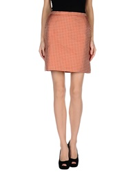 Michelle Windheuser Knee Length Skirts Brick Red