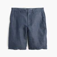 J.Crew 10.5' Club Short In Striped Irish Linen Blue Horizontal Stripe