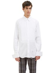 Thom Browne Distressed Tux Shirt White