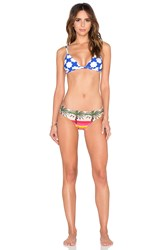 Salinas Runway Triangle Bikini Set Blue