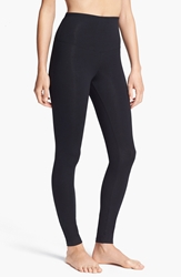 Yummie By Heather Thomson 'Rachel' Compact Cotton Blend Leggings Black