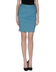 Darling Knee Length Skirts Pastel Blue