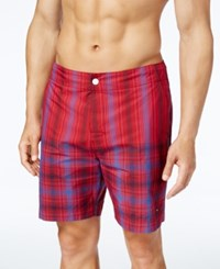 Tommy Hilfiger Men's Drydock Stripe Board Shorts Apple Red