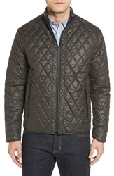 Remy Leather Men's Diamond Quilted Water Resistant Reversible Jacket