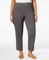Alfred Dunner Plus Size Cactus Ranch Collection Pull On Pants Medium Grey