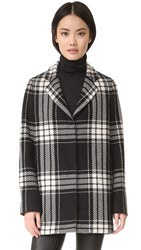 Mcq By Alexander Mcqueen Boyfriend Coat Black White