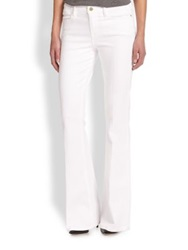 Frame Le High Flared Jeans Blanc