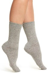 B.Ella Women's Moda Cashmere Blend Crew Socks Grey