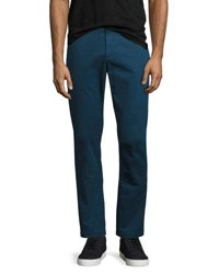 Slim Flat Front Chino Pants Teal