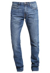 Frame Denim Straight Leg Jeans Blue Blue Denim