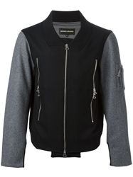 Gaspard Yurkievich Contrasting Panels Bomber Jacket Black