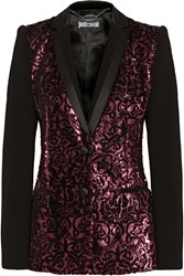 Just Cavalli Sequin Embellished Crepe Blazer