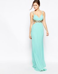 Forever Unique Kirsty Maxi Dress With Embellishment Mint