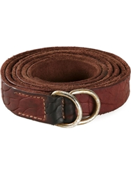Guidi Distressed Belt Red