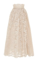 Luisa Beccaria Midi Lace Skirt Ivory