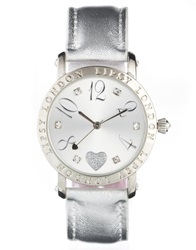 Lipsy Large Number Watch Silver