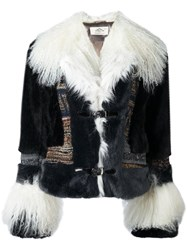 Urbancode 'Air Force' Faux Fur Jacket Multicolour