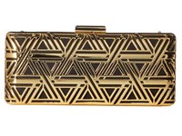 Love Moschino Metal Lace Clutch With Chain Gold Black Clutch Handbags