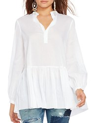 Polo Ralph Lauren Drop Waist Cotton Voile Tunic White
