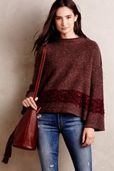 Cynthia Vincent Sweaterknit Swing Top Wine