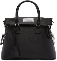 Maison Martin Margiela Black Leather Duffle Bag