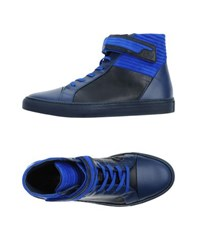 Dirk Bikkembergs Sport Couture Footwear High Tops And Trainers Men Slate Blue