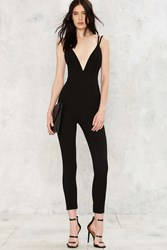 Nasty Gal Deep Meaning Plunging Jumpsuit