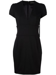 Alexandre Vauthier V Neck Dress Black