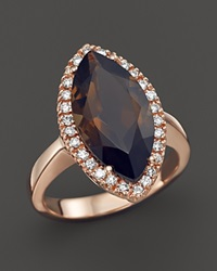 Bloomingdale's Smokey Topaz And Diamond Marquise Ring In 14K Rose Gold Brown Pink