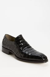Mezlan 'Fiorello' Crocodile Loafer Black
