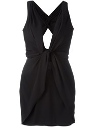 Dsquared2 V Neck Wrap Dress Black