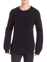 3.1 Phillip Lim Double Faced Wool Pullover Black