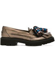 Msgm Oversized Tassel Loafers Brown