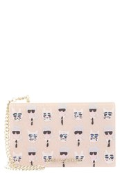 Karl Lagerfeld The Artist Clutch Creme Nude