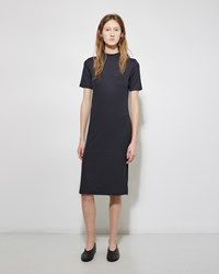 Nomia Mock Neck Rib Dress Indigo