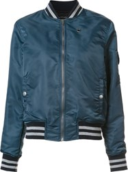 Mother Varsity Bomber Jacket Blue
