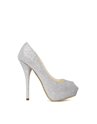 Sugarfree Shoes Sugarfree Malina Silver Glitter Platform Court Shoes