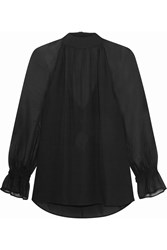 Rebecca Minkoff Hyacinth Silk Chiffon Top Black